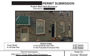 Sample Permit Submission and Inspection